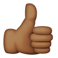thumbs up brown